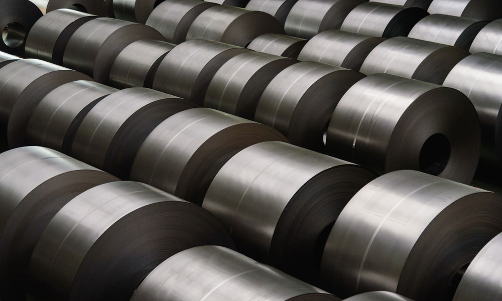 Cold rolled steel coil ready to be used on keys made by a keys maker