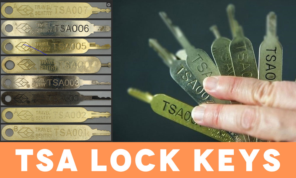 Type of key: TSA Lock Keys
