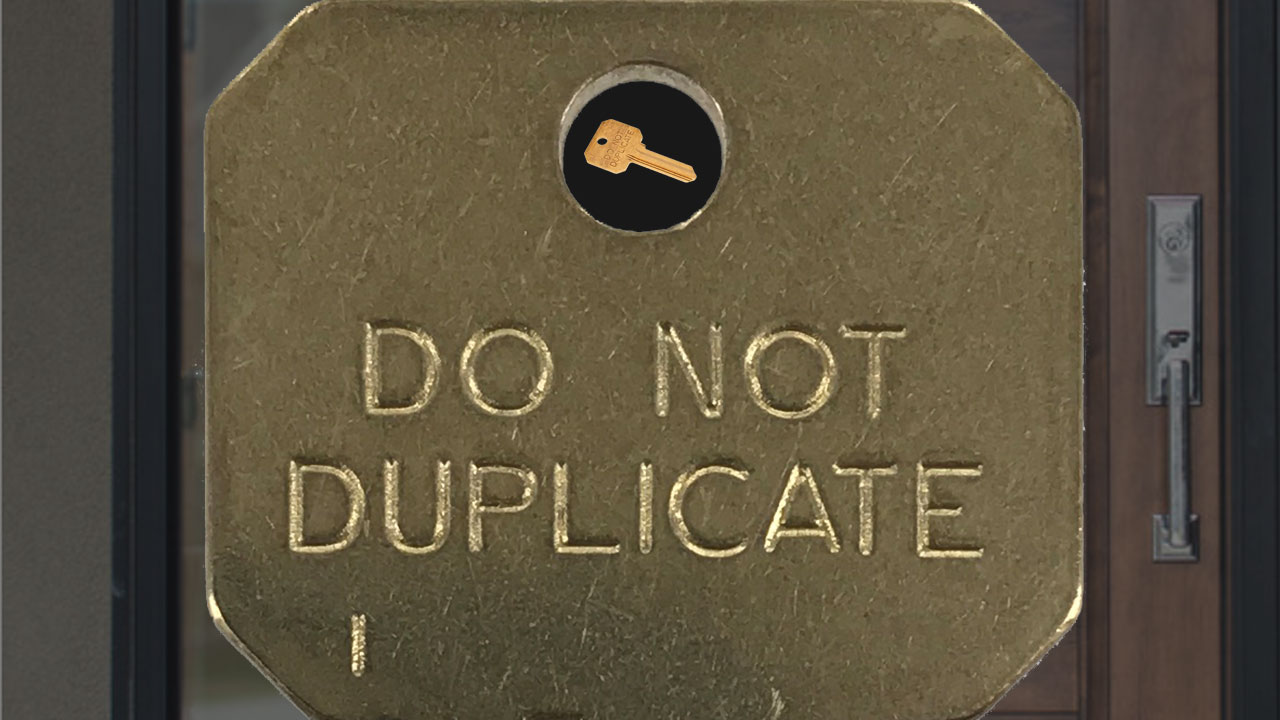 """Do not duplicate"" key"