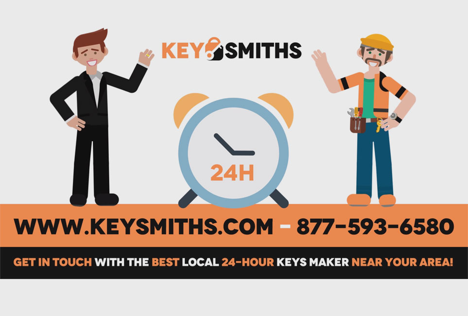 Get in touch with a local 24-hour locksmith near me by calling Key Smiths