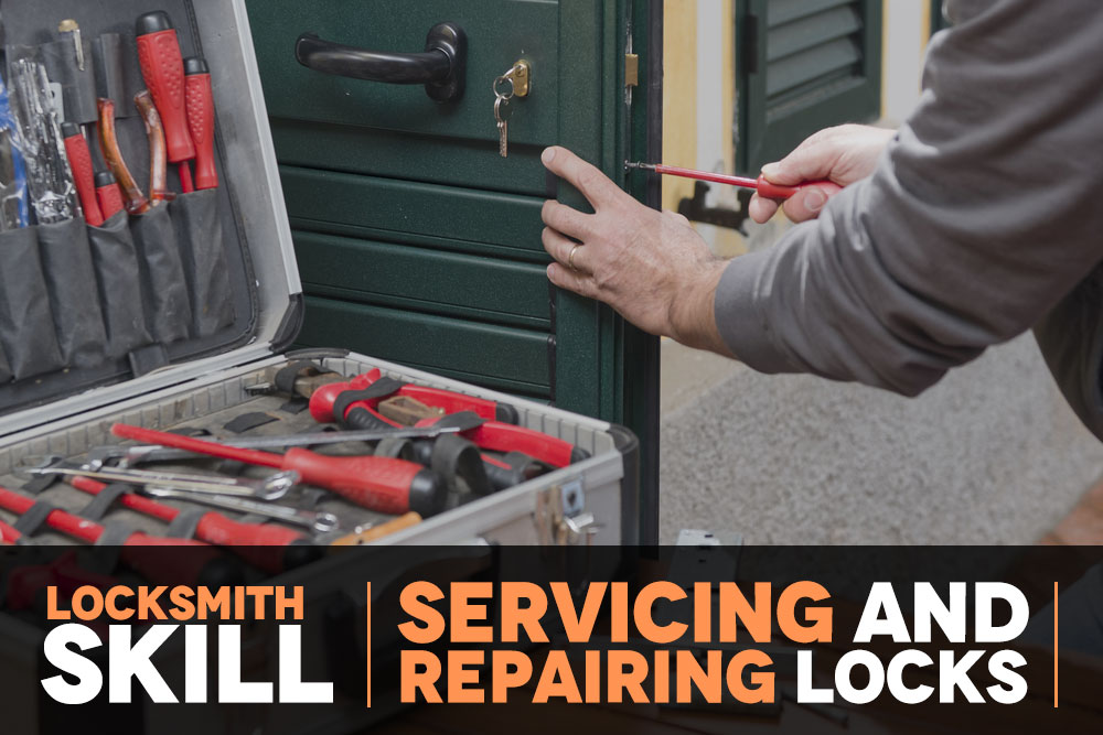 Locksmith services and repairs door locks