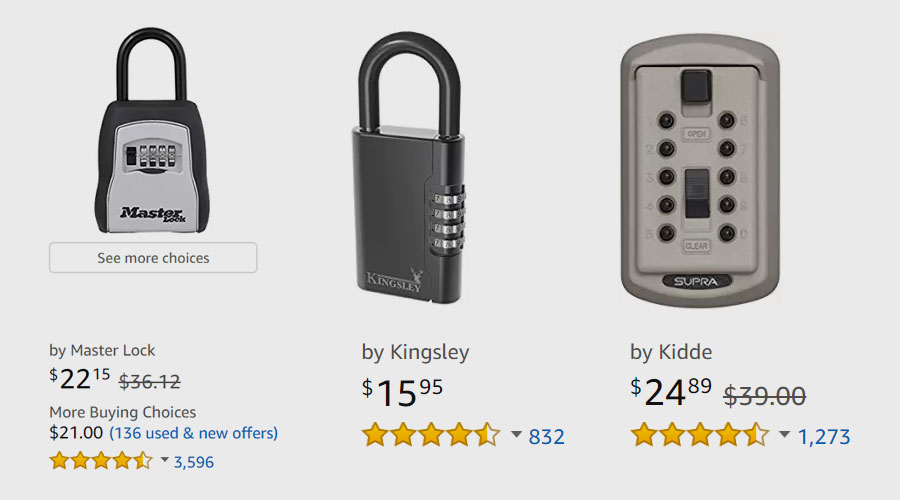 How much does a key lock box cost?