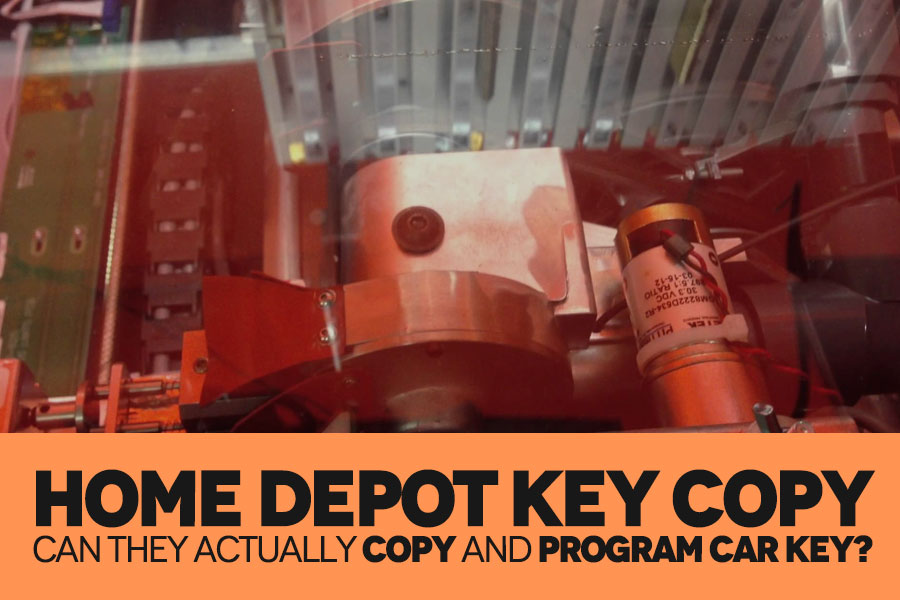 Can you duplicate a car key at home depot key copy section?