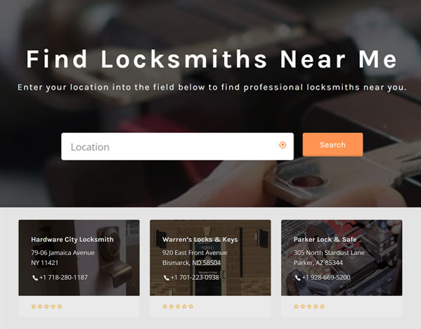 Locksmiths Near Me Directory