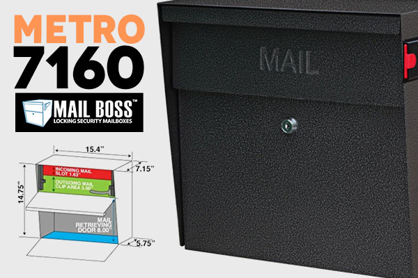 Metro 7160 Locking Mailbox by mail boss